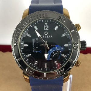 Ice Star Watch Navy and Gold with Gun Metal Bezzel
